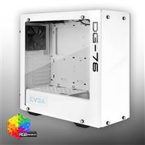 Gabinete EVGA DG-76 Alpine White Mid-Tower, 2 Sides Temp Glass, RGB LED + Ctrl Board, Gaming