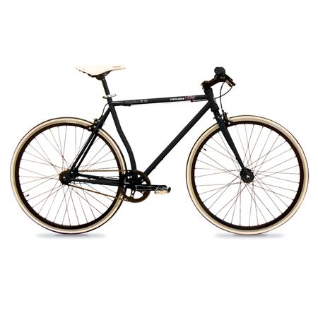 "BICICLETA MEDIA CARRERA FIXIE 28"" NEGRA 328015NEG"